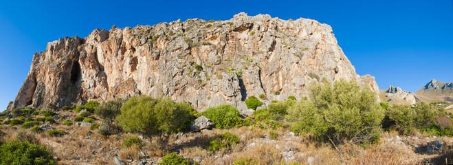 Sicilian cliff.
