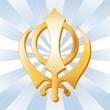Sikh Symbol, Golden Khanda, Icon of the Sikh faith.