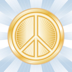 Peace Symbol, International icon of nonviolence on earth.
