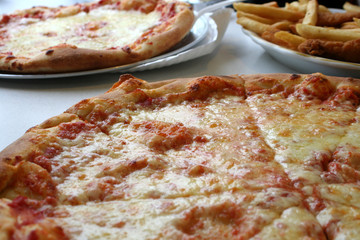 Pizza, Chicken and Fries