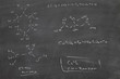 chemistry on chalkboard