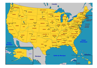 Etats des USA