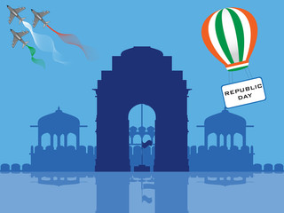 Vector illustration of Republic Day .