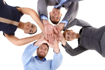 Businessteam in unity