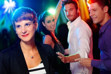 Young people in the nightclub