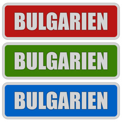 3 Sticker rgb BULGARIEN