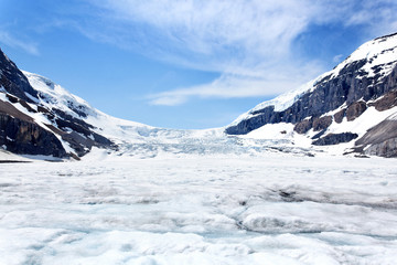 Columbia Icefield in den Rocky Mountains, Kanada