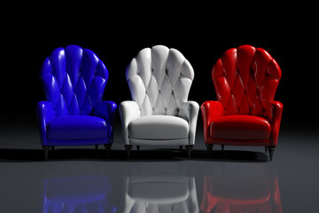 French color armchairs