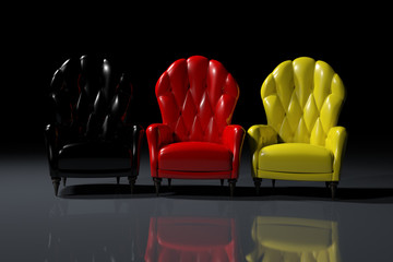 German color armchairs