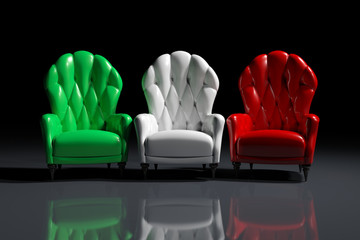 Italian color armchairs