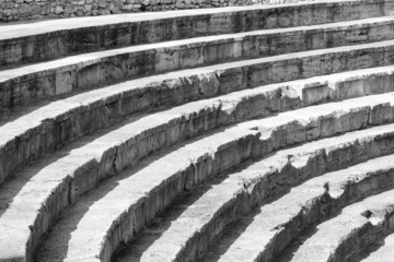 Steps of old amphitheater - Ohrid