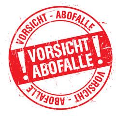 Stempel - Vorsicht Abofalle (I)