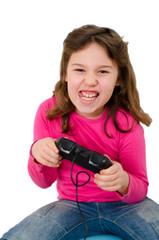 Mädchen mit Gamepad