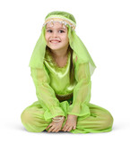 child girl dressed arabian