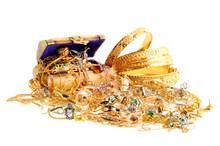 Lot de bijoux en or