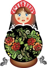 Traditional Russian Matreshka Babushka doll