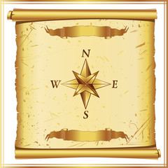 parchment with wind rose