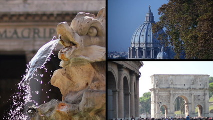 Rome - St.Peter Colosseum Pantheon