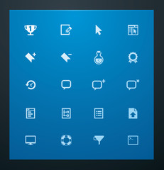 Universal glyphs 9. Web icons