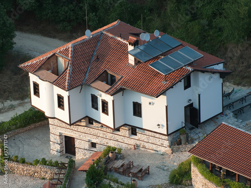 Solar Panels On The Top Roof