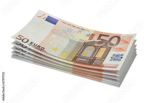 Stack of 50€ bills
