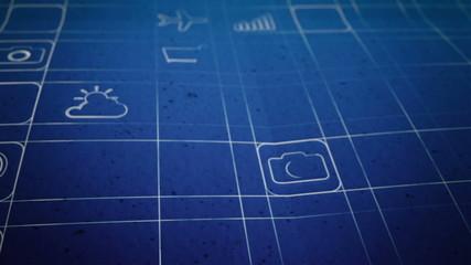 Mobile App Development Blueprint Concept