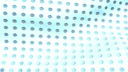 Perforated plastic texture waving, seamless loop