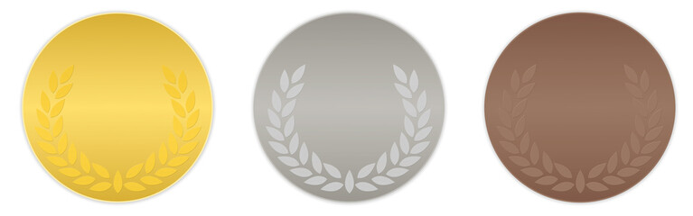 podium - médailles d'or, argent et bronze