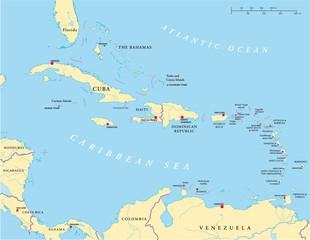 Karibik Antillen Landkarte