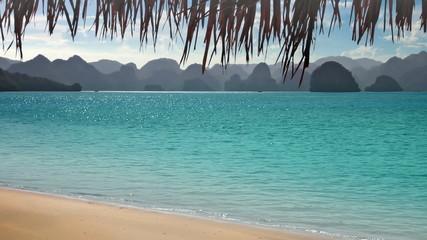 Tropical beach and mountains