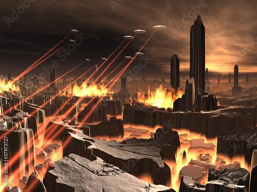 alien-ufo-invasion-of-futuristic-city