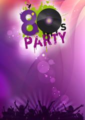 80er Party Flyer