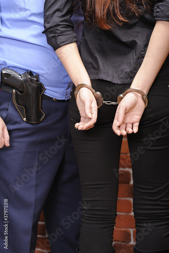 girl in handcuffs