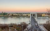 Elisabeth bridge and Pest view, Budapest, Hungary poster