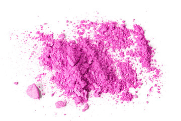 Pink crushed makeup