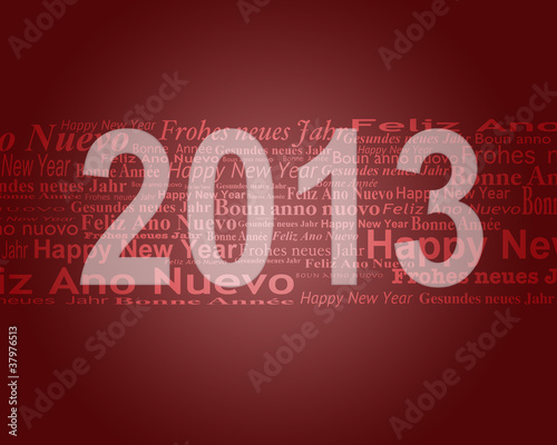 Karte Happy New Year 2013