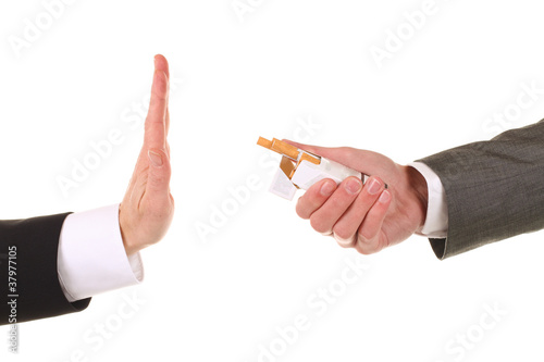 Leinwandbild Motiv Nein danke, Nichtraucher