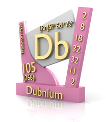 Dubnium form Periodic Table of Elements - V2