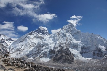 Everest  mountain peaks view from Kala Pattar, Nepal
