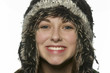 teen girl wearing winter hat