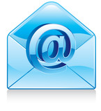 communication with electronic mail icon