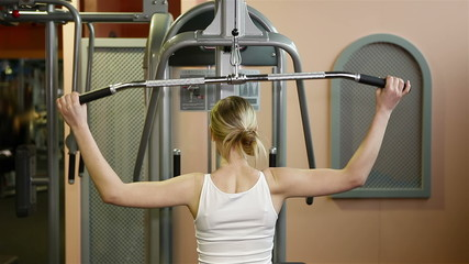Back exercises in health club