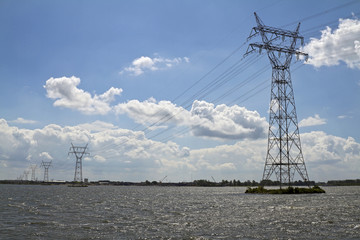 Electricity Power Lives on Dutch canal