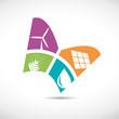 Logo butterfly, alternative energy # Vector
