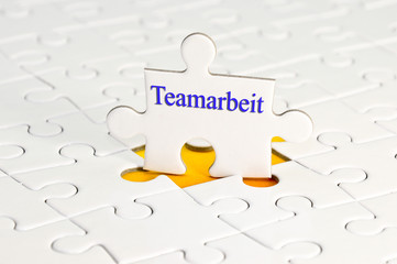 Teamarbeit puzzle