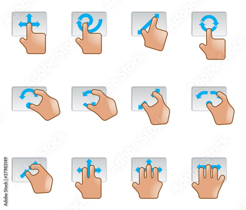 Web Icons - Trackpad Gesture