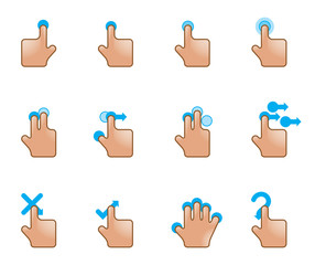 Web Icons - Touch Gestures
