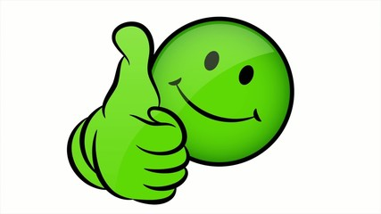 Smiley Thumb Up Green