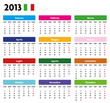 Base calendario 2013 Italiano con festività