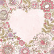 valentine heart of pink flowers